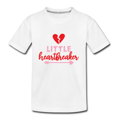 Boys Valentine T-Shirt Little Heartbreaker - white