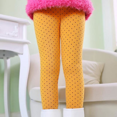 Butterfly Love Leggings for Girls - Yellow / 2-3 years