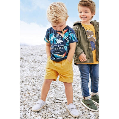California Letter Print Clothing Set for Boy
