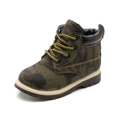 Camo Print Camping Shoes Kids Unisex - Army Green / 5.5