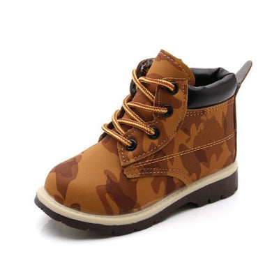 Camo Print Camping Shoes Kids Unisex - Brown / 5.5