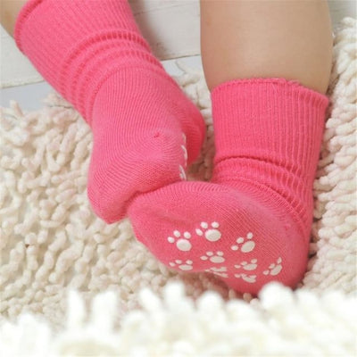 Candy Color Baby Boy Girls Anti Slip Socks - red / 1 to 3 years
