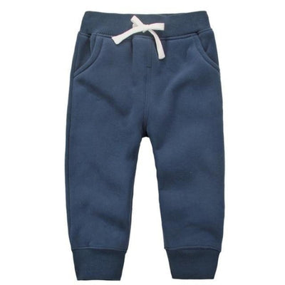 Candy Colour Unisex Drawstring Trousers for Kids - Dark Blue / 9-12 months