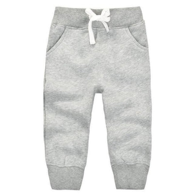 Candy Colour Unisex Drawstring Trousers for Kids - Gray / 9-12 months