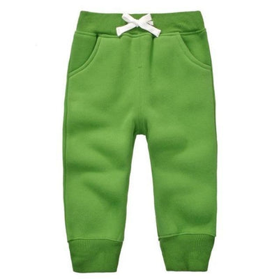 Candy Colour Unisex Drawstring Trousers for Kids - Green / 9-12 months