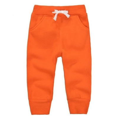 Candy Colour Unisex Drawstring Trousers for Kids - Orange / 9-12 months
