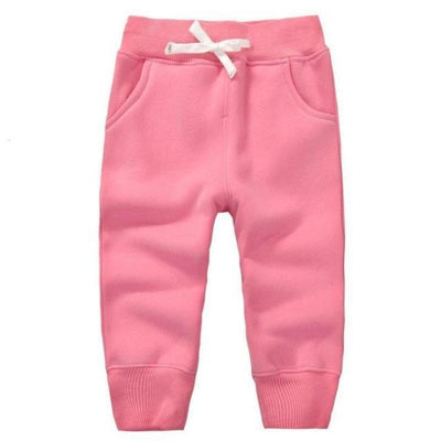 Candy Colour Unisex Drawstring Trousers for Kids - Pink / 9-12 months