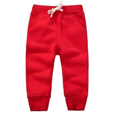Candy Colour Unisex Drawstring Trousers for Kids - Red / 9-12 months
