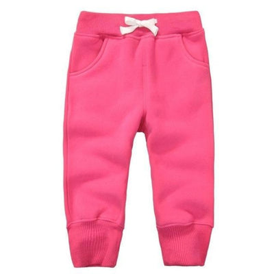 Candy Colour Unisex Drawstring Trousers for Kids - Rose Red / 9-12 months