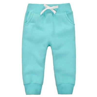 Candy Colour Unisex Drawstring Trousers for Kids - Sky Blue / 9-12 months