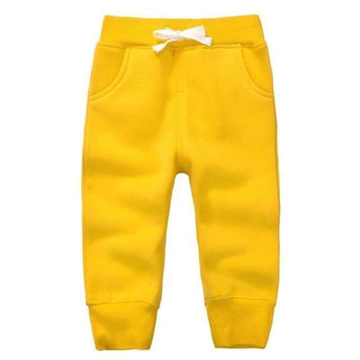 Candy Colour Unisex Drawstring Trousers for Kids - Yellow / 9-12 months