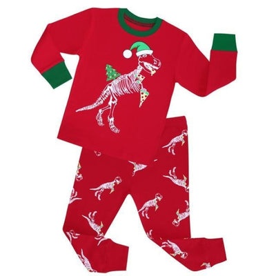 Cartoon boys Full sleeve clothing set - Red / 18-24 months