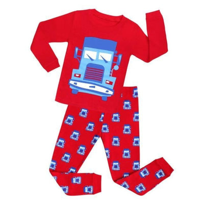 Cartoon boys Full sleeve clothing set - Red 2 / 18-24 months