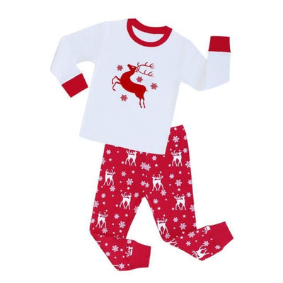 Cartoon boys Full sleeve clothing set - White + Red / 18-24 months