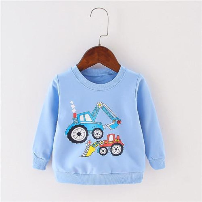 Cartoon lovely print Unisex Long sleeve for babies