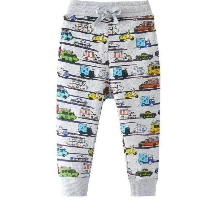 Cartoon Pattern Boys Joggers