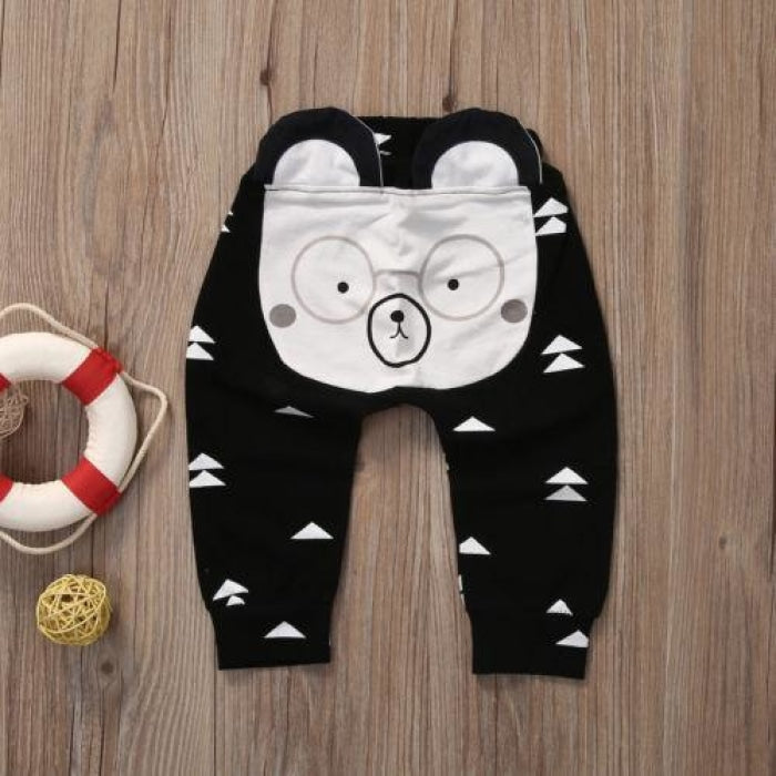 Casual Animal Cartoon Unisex Pants for Infants