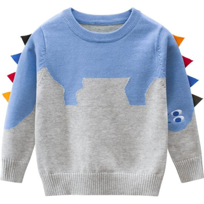 Casual Dinosaur Fin Style Pullover for Toddler Boys