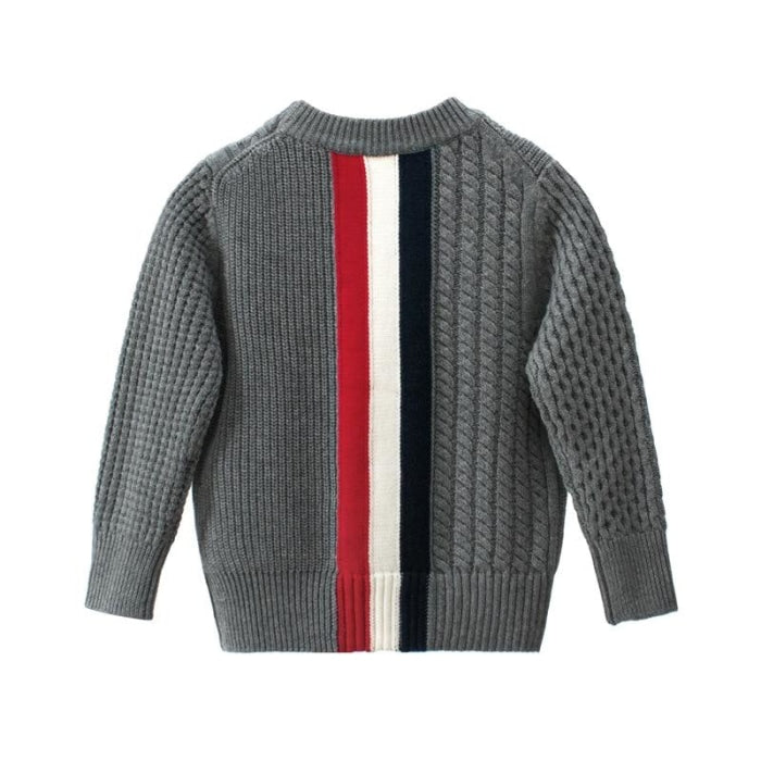 Casual Striped Sweater for Kids Unisex