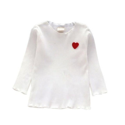 Children Long Sleeve Winter T-Shirts - White / 18-24 months