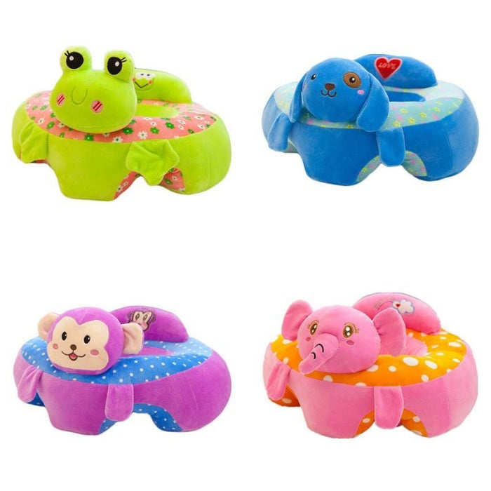 Childrens Plush Learning Sofa Seat with Cartoon Pattern