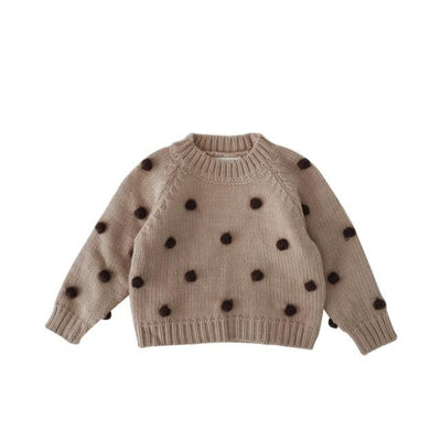 Comfy Knitwear Sweater for Toddler Girls - khaki / 4-5 years