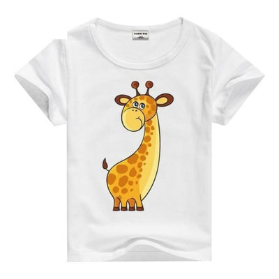 Cool Animal Summer Short Sleeve T-Shirt Kids Unisex - Giraffe / 2-3 years