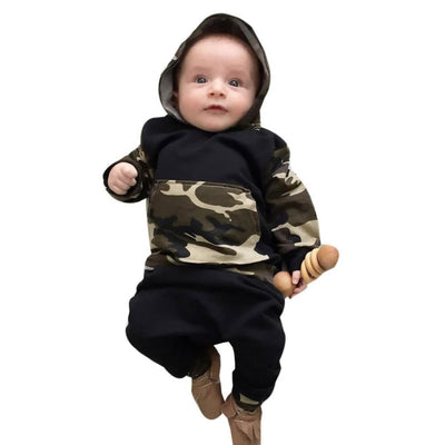 Cool Camouflage Hoodie Clothing Sets Baby Boy