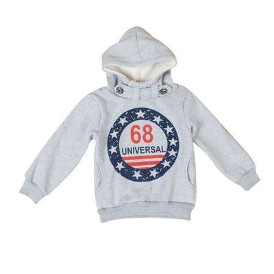 Cool Casual Printed Hoodie Sweater for Boys - Gray / 2-3 years