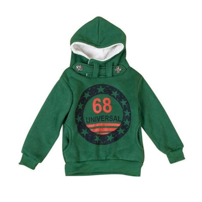 Cool Casual Printed Hoodie Sweater for Boys - Green / 2-3 years