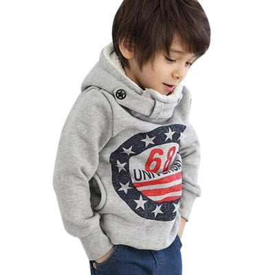 Cool Casual Printed Hoodie Sweater for Boys