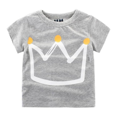 Cool Crown Cotton Summer T-Shirt - Gray / 18-24 months