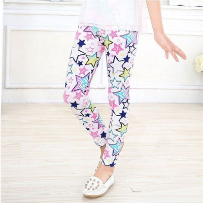 Cool Printed Skinny fit leggings for Girls