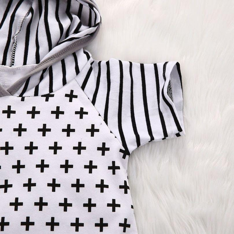 Cross all over print Jumpsuit - 0-3 months