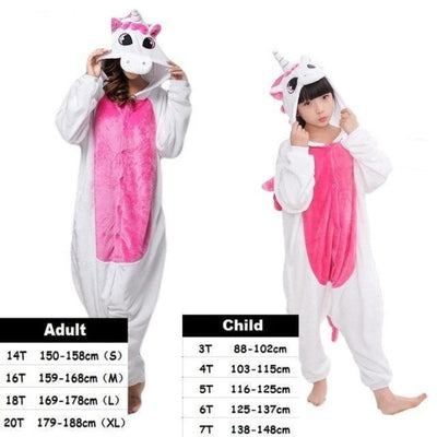 Cute Animal Cartoon Pajama Sleepwear Set for Boys & Girls - rose unicorn / 2-3 years