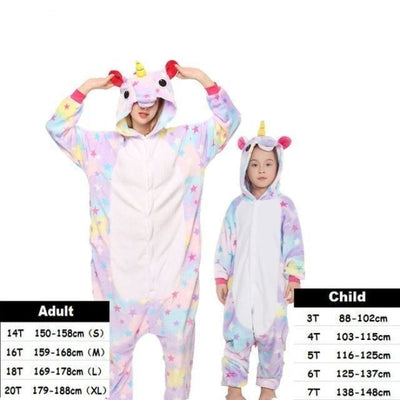 Cute Animal Cartoon Pajama Sleepwear Set for Boys & Girls - star tenma / 2-3 years