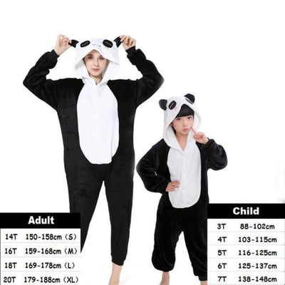 Cute Animal Cartoon Pajama Sleepwear Set for Boys & Girls - tear panda / 2-3 years