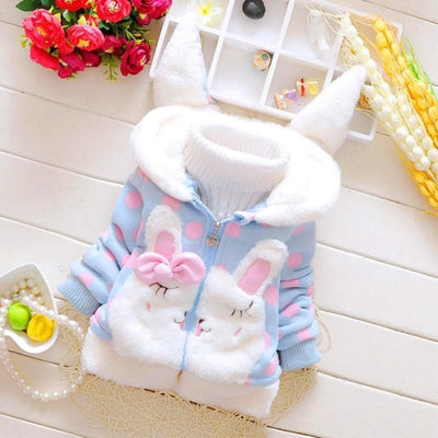Cute Animal Pattern Hoodie Jacket for Girls