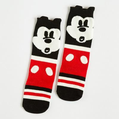 Cute Animal pattern Socks set for Kids Babies - Black + Red / 1-3 years