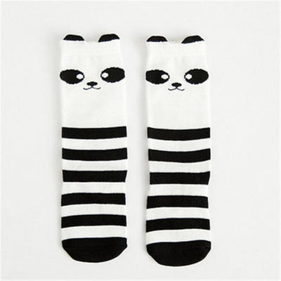 Cute Animal pattern Socks set for Kids Babies - Black + White / 0-1 year