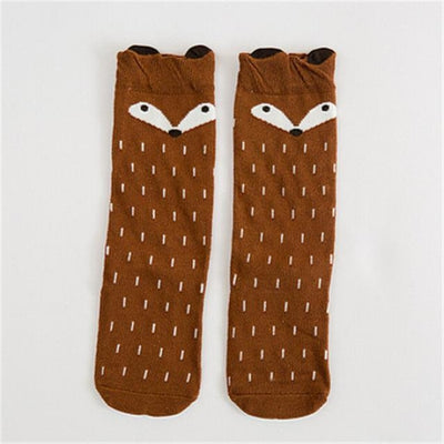 Cute Animal pattern Socks set for Kids Babies - Brown / 1-3 years