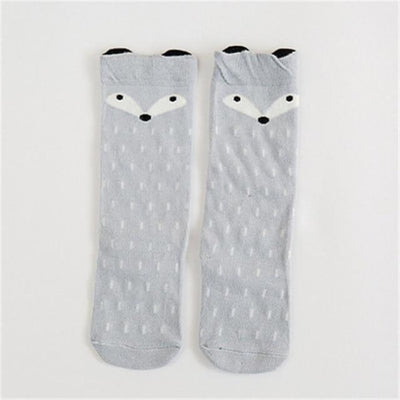 Cute Animal pattern Socks set for Kids Babies - Gray / 1-3 years