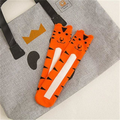 Cute Animal pattern Socks set for Kids Babies - Orange / 1-3 years