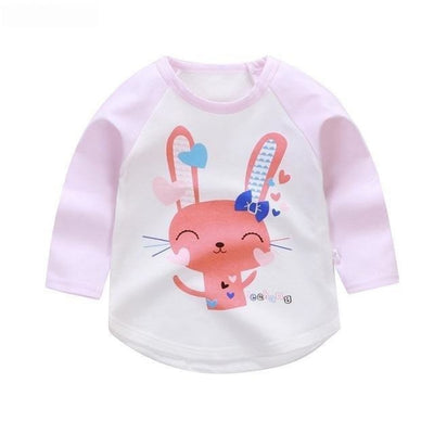 Cute Animal Printed Unisex T-shirt - Purple / 6-9 months