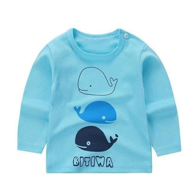 Cute Animal Printed Unisex T-shirt - Sky Blue 2 / 6-9 months