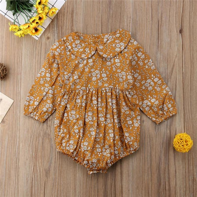 Cute Baby Girls Cotton Floral Spring Clothes Bodysuit