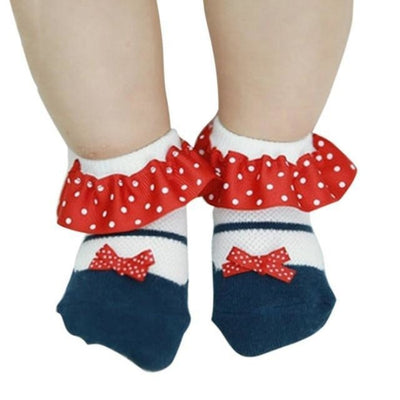 Cute Bowknot Baby Girl Socks Toddler - Red / 2 to 3 years