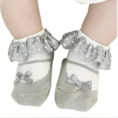 Cute Bowknot Baby Girl Socks Toddler - White / 2 to 3 years