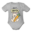 Cute Bunny My 1st Easter Baby Unisex Onesie - heather gray