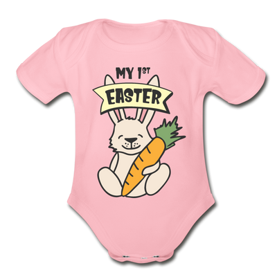 Cute Bunny My 1st Easter Baby Unisex Onesie - light pink